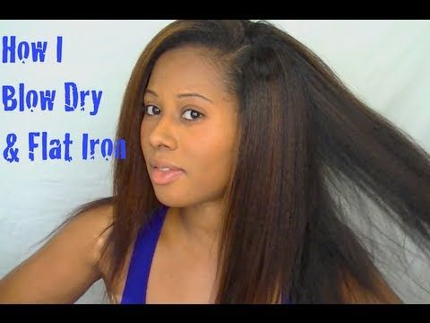 Blow Dry Flat Iron Natural Hair