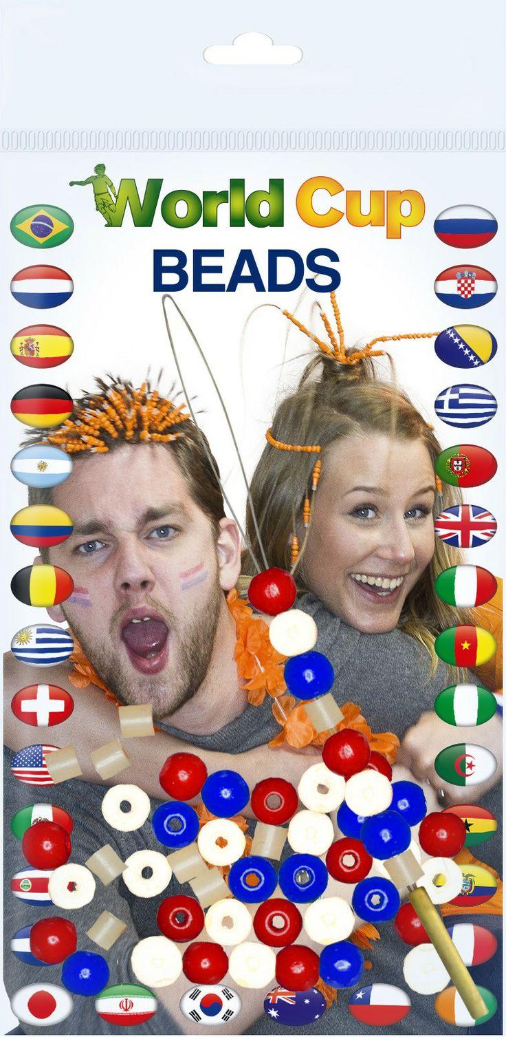 Laat de leeuw niet in z'n hemd staan! Met de Jwel U Beads in je haar sta je volledig achter Holland! Maar niet alleen tijdens het WK2014 in Brazilië kun je deze kralen dragen. Ook tijdens Koningsdag zal je opvallen!