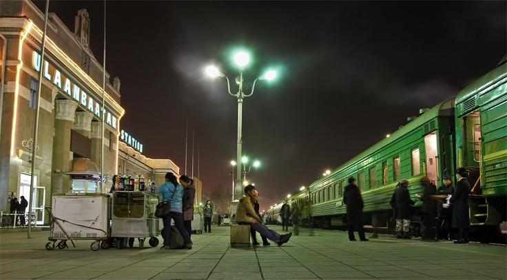 Maybe it's because I like waiting for trains and the Trans Siberian Railroad is still on my list; maybe it's because I've never been to Ulaanbaatar, Mongolia; or maybe it's that I wish I'd taken the photo myself. Green with envy.