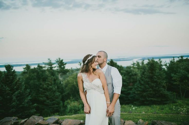 Our wedding #emilydelamaterphotography #annacampbellgown #maine #maineweddings