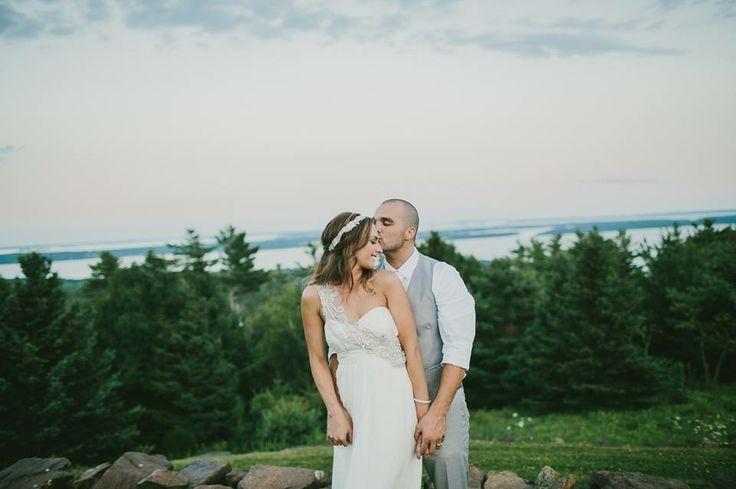 Our wedding #emilydelamaterphotography #annacampbellgown #maine #maineweddings