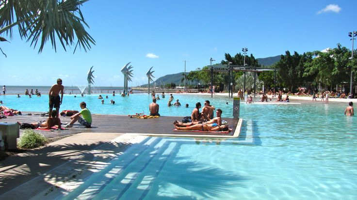 Cairns Australia; pool by the sea