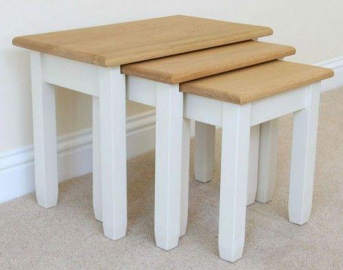 Andrena Nest of Tables, Off White