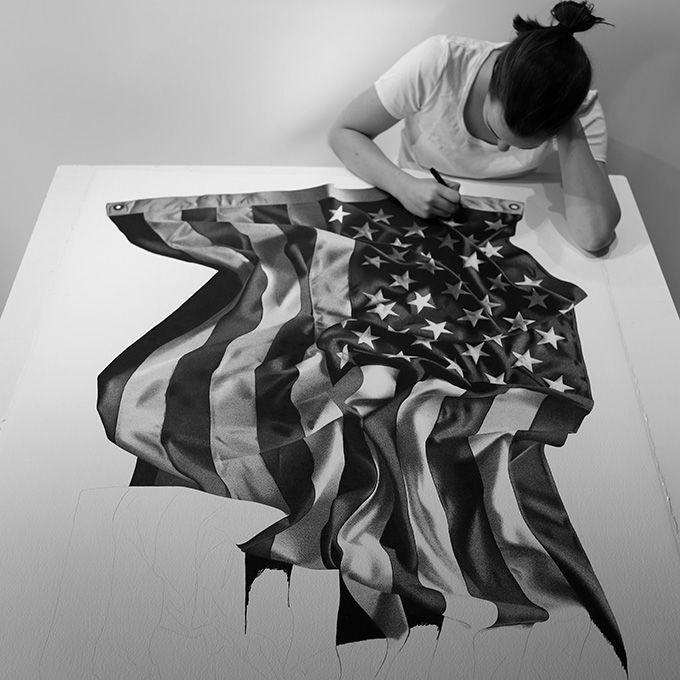 Hand Drawn American Flag By CJ Hendry - The Cool Hunter