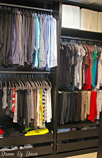 IKEA's PAX Closet System in a walk in closet - the pros and cons