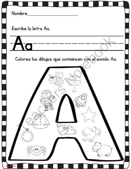 Spanish Alphabet Printable Coloring Pages : 57 best alphabet images on pinterest