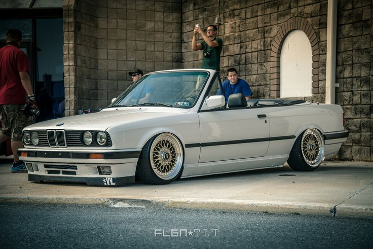 bmw e30 3 series white cabrio slammed bmw ultimate. Black Bedroom Furniture Sets. Home Design Ideas