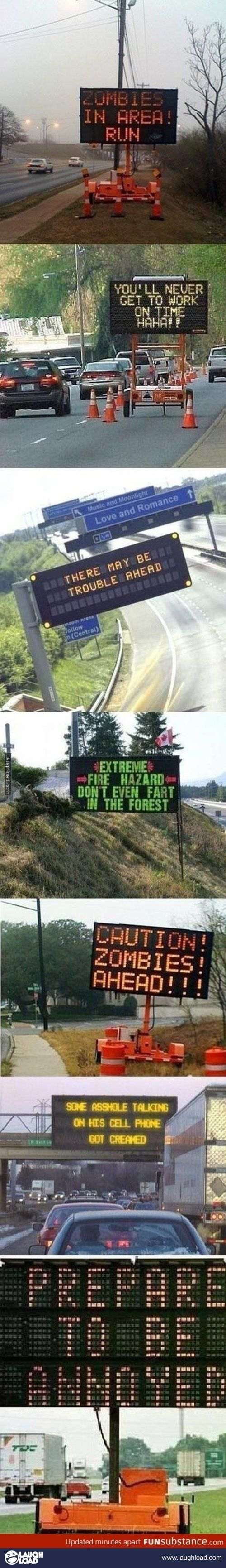 Funny road signs                                                                                                                                                                                 More