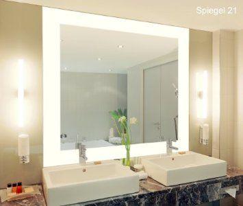 S08 Vella Badspiegel mit Beleuchtung - 100cm x 60cm: Amazon.de: Küche & Haushalt