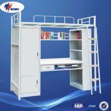 dormitorio de hierro mini para adultos niños cama litera de metal con precio de escritorio