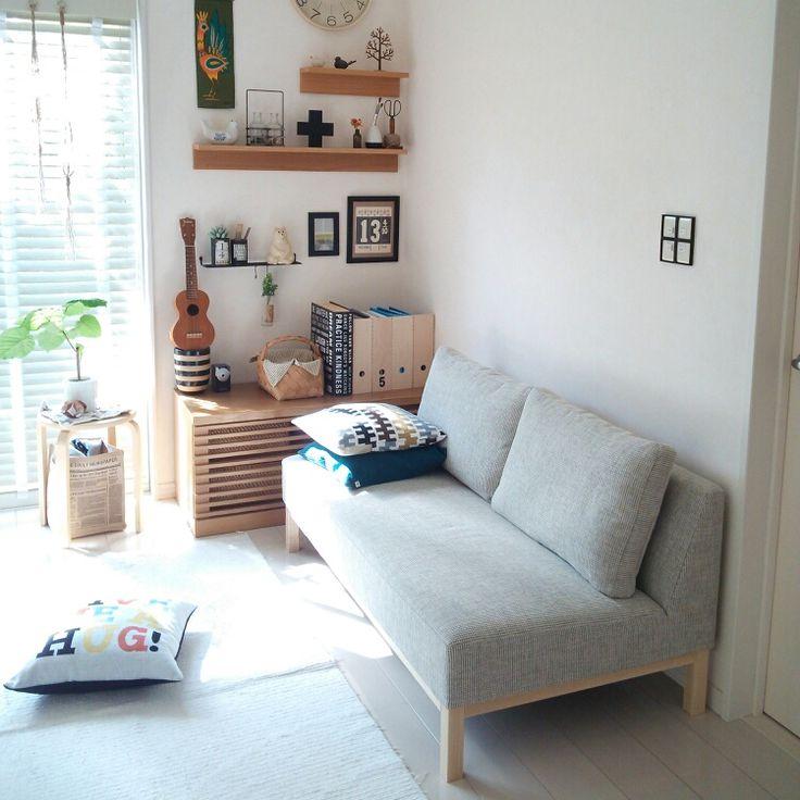 ソファ/NOYES/壁に付けられる家具/北欧インテリア/クッションカバー/北欧…などのインテリア実例 - 2014-09-30 01:04:17 | RoomClip(ルームクリップ)