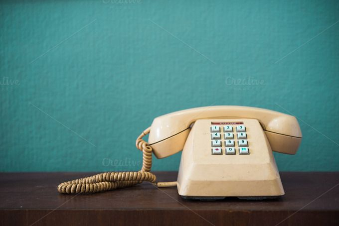 Vintage telephone by totojang1977 on @creativemarket