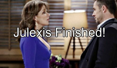 """General Hospital"" (GH) spoilers for this week's episodes reveal that neither Alexis Davis (Nancy Grahn) nor Julian Jerome (William deVry) have covered their"