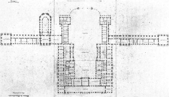 Plan of Herrenchiemsees, 1878, the palace designed for