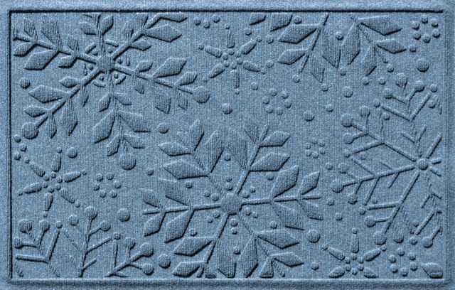 Aqua Shield 2'x3' Holiday Snowflake Doormat, Medium Brown transitional-doormats - comes in 19 colors!