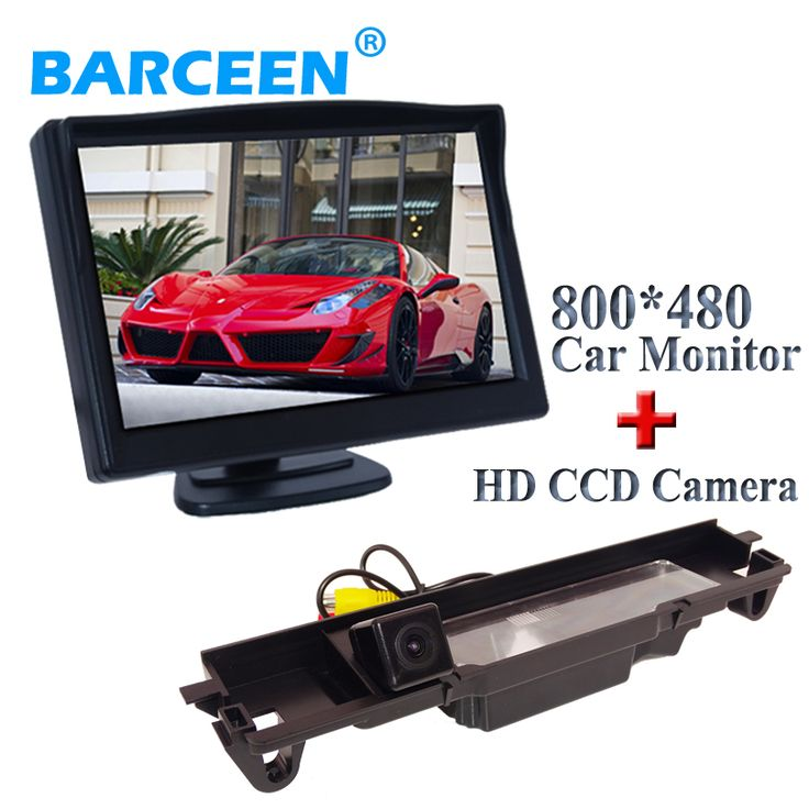 "5"" car monitor In-Dash placement with black shell plastic material car parking  camera 170 angle ccd image for Toyota Yaris"
