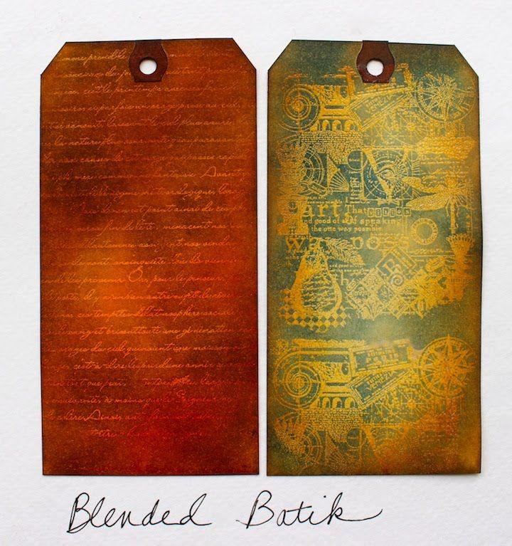 Blended Batik Technique Tutorial with Ranger Distress Inks (Marjie Kemper)