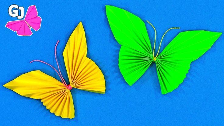 Оригами бабочка из бумаги. Просто и быстро!