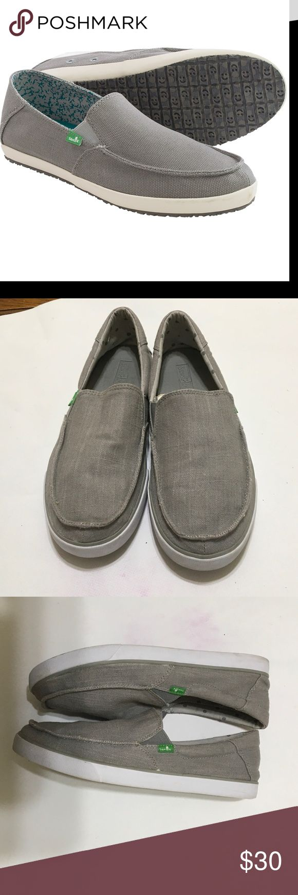 Sanuk canvas for men sz10 Sanuk grey canvas shoes for men sz10 in like new condition only worn once sanuk Shoes Loafers & Slip-Ons
