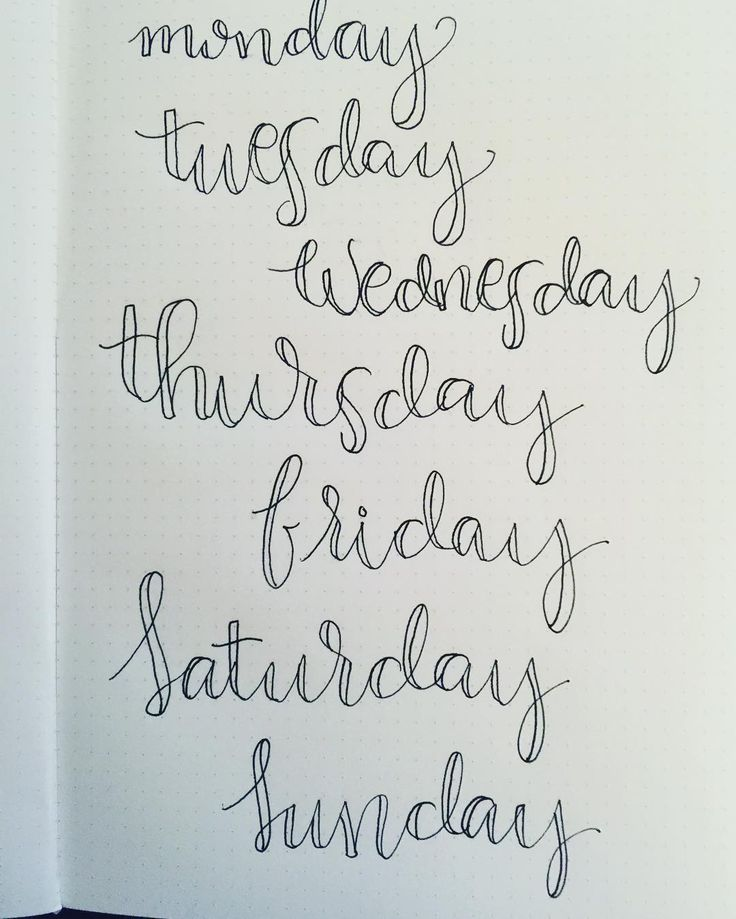 from @plannerjunkielife Days of the week practice!!! #planneraddict #planneraddict #left #lefty #lettering