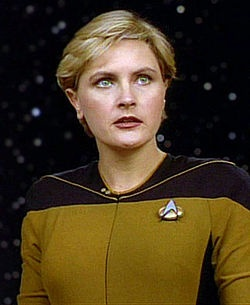"Lieutenant Natasha ""Tasha"" Yar, played by Denise Crosby, is a character in Star Trek: The Next Generation.[1] In the fictional series, the character served as chief of security aboard the USS Enterprise-D for the first season"