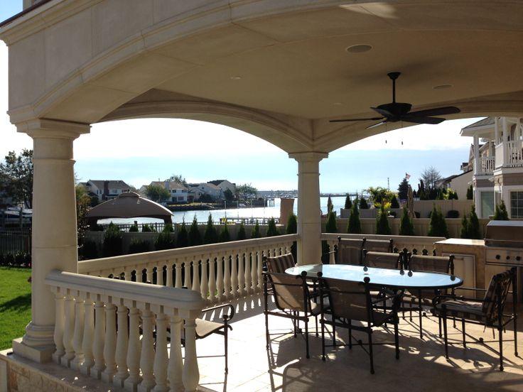 Balustrade system by coral cast balustrade precast for Concrete patio railing