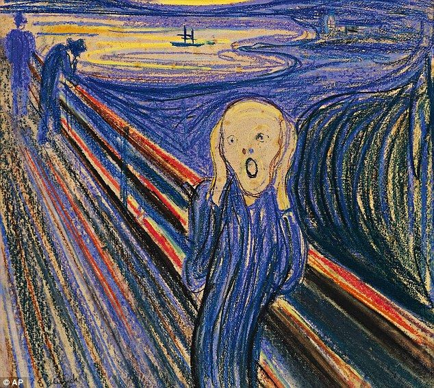 Art attack: Edvard Munch's famous The Scream was inspired by a panic attack suffered by the artist