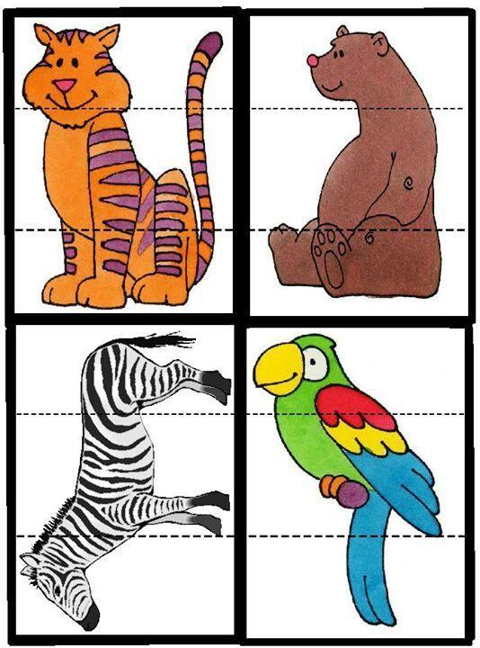 3 Yaş Çocukları İçin Renkli Puzzle Kalıpları - Okul Öncesi Etkinlik Kütüphanesi - Madamteacher.com