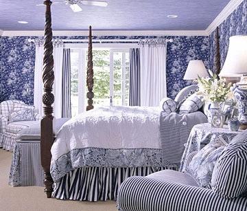beautiful blue master bedroom