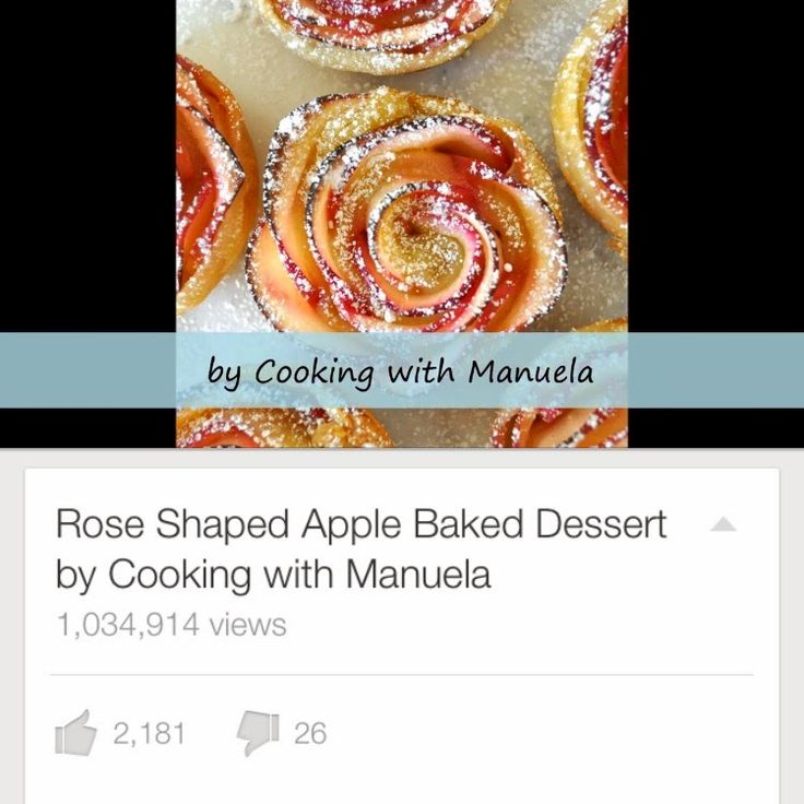 Cooking with Manuela: Rose Shaped Apple Baked Dessert Video ~ One thing I'd do different is to skip the microwave. One sure fire way to ruin the health of your food is to use a microwave oven.