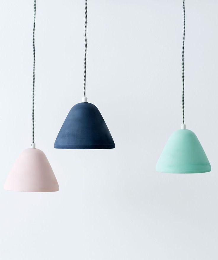 Finn Concrete Pendant - love the colours