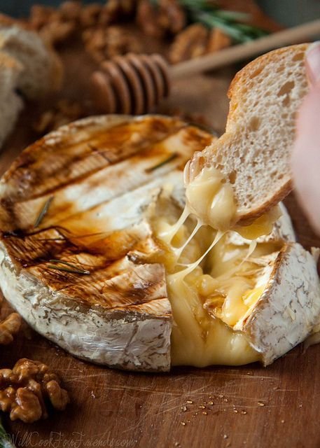 Baked Brie with Rosemary, Honey, and Candied Walnuts | Will Cook For Friends