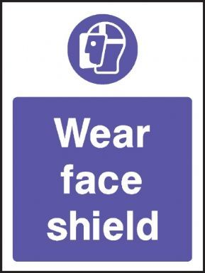 Wear face shield warning sign