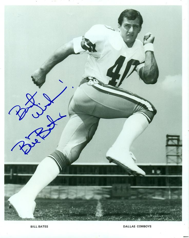Bill Bates, Dallas Cowboys, Autographed 8x10 Photo