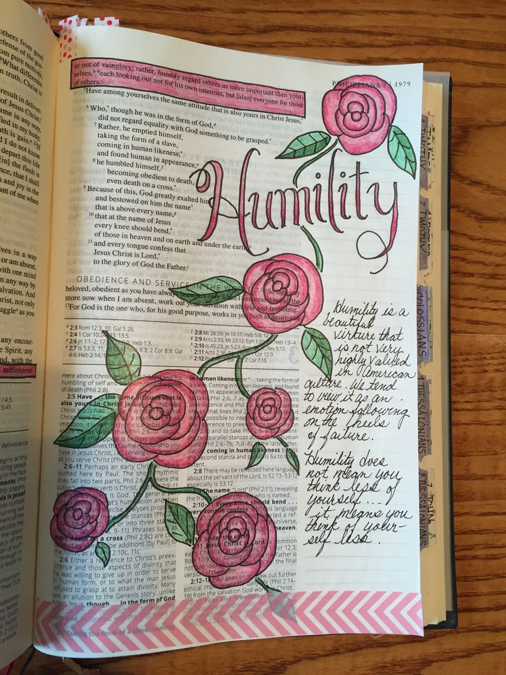 Phillipians 2:3 Bible journaling