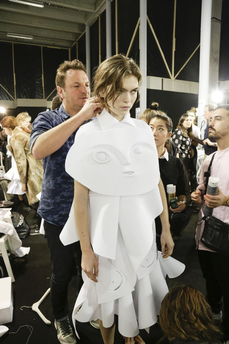 Viktor&Rolf, Haute Couture, Spring/Summer 2016, Performance of Sculptures, Backstage