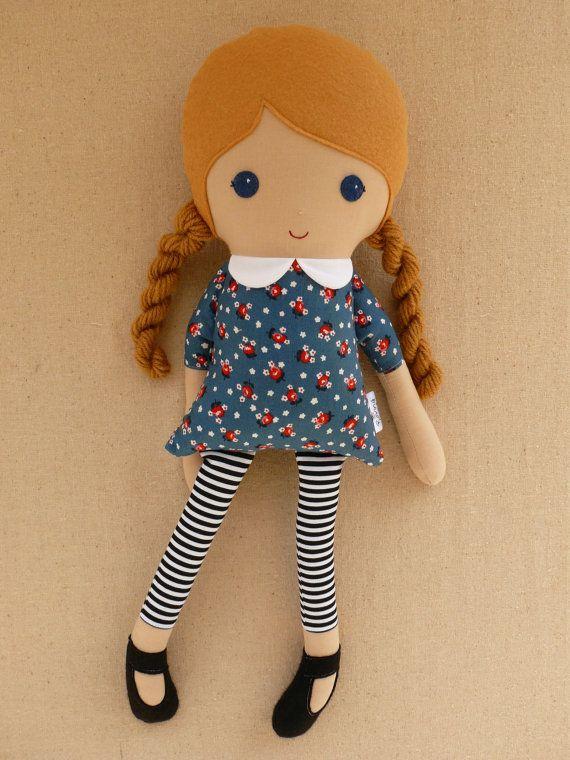 Custom Listing for Sarah Fabric Doll Rag Doll by rovingovine