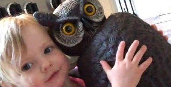 De meeste meisjes spelen met mooie poppen. Dit meisje echter speelt liever met een nepuil die dienst moest doen als vogelverschrikker http://nl.metrotime.be/2016/04/12/must-read/meisje-vervangt-knuffel-voor-enge-nepuil/