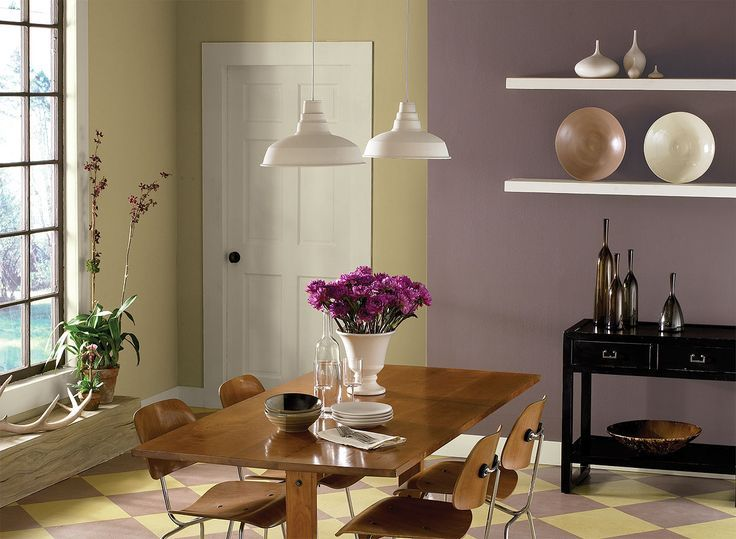 Dining Room Purple Color Schemes   Benjamin Moore Love The Purple, Cream, U0026  Brown. Possibility For Living Room