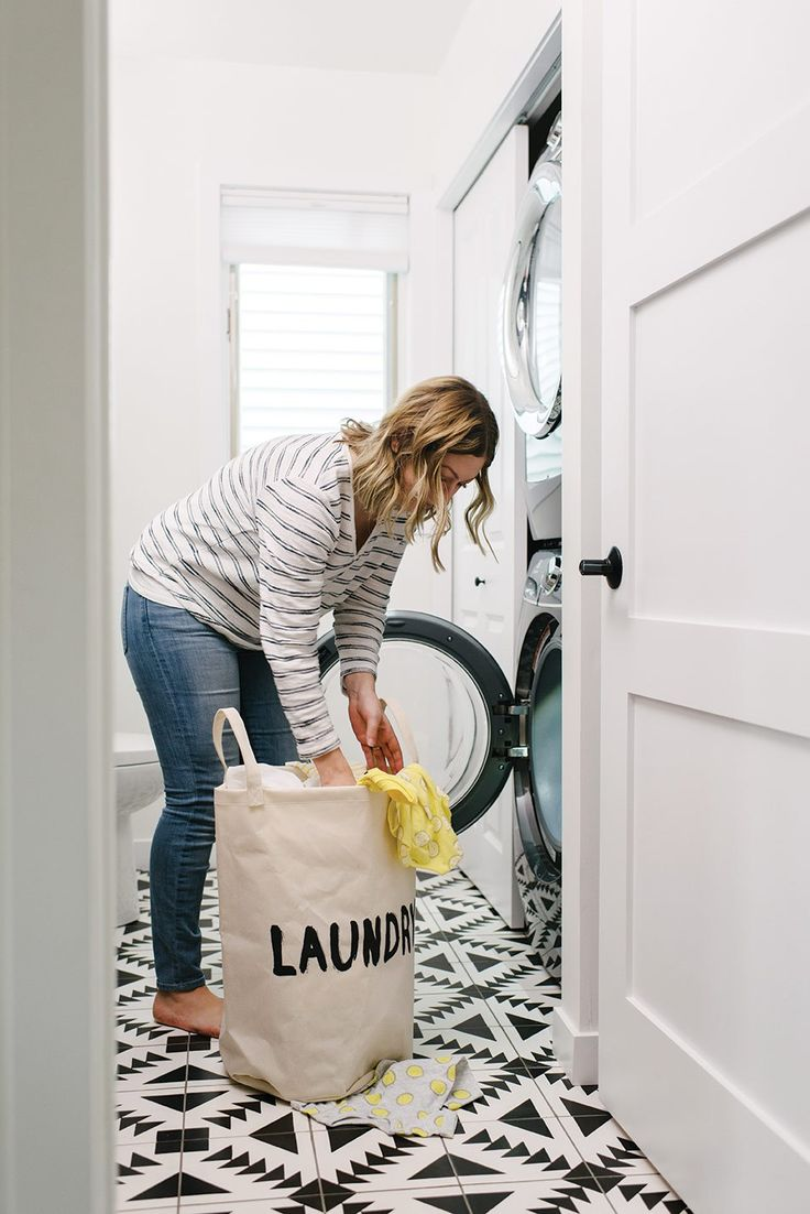 10 Tips for a Small Laundry Space - Hello Yellow Blog