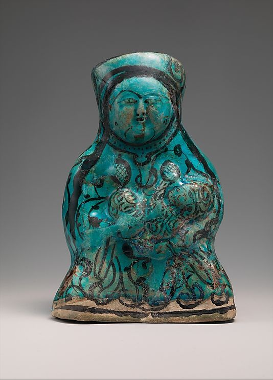 Molded Vessel in the Form of a Mother and Child, 12th–13th century, Iran, 20.5 cm | The Metropolitan Museum of Art