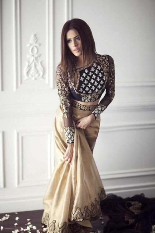 Neutral colors aren't a big part of most people's desi wardrobe, but they can look very chic. Plus you can mix and match the items with other things in your wardrobe.