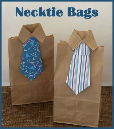 DIY Necktie Bags!  Full tutorial on Kid Pep!  #fathersday #kidscraft