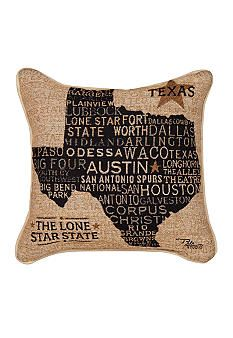 Manual Woodworkers Texas Decorative Pillow - Online Only - Belk.
