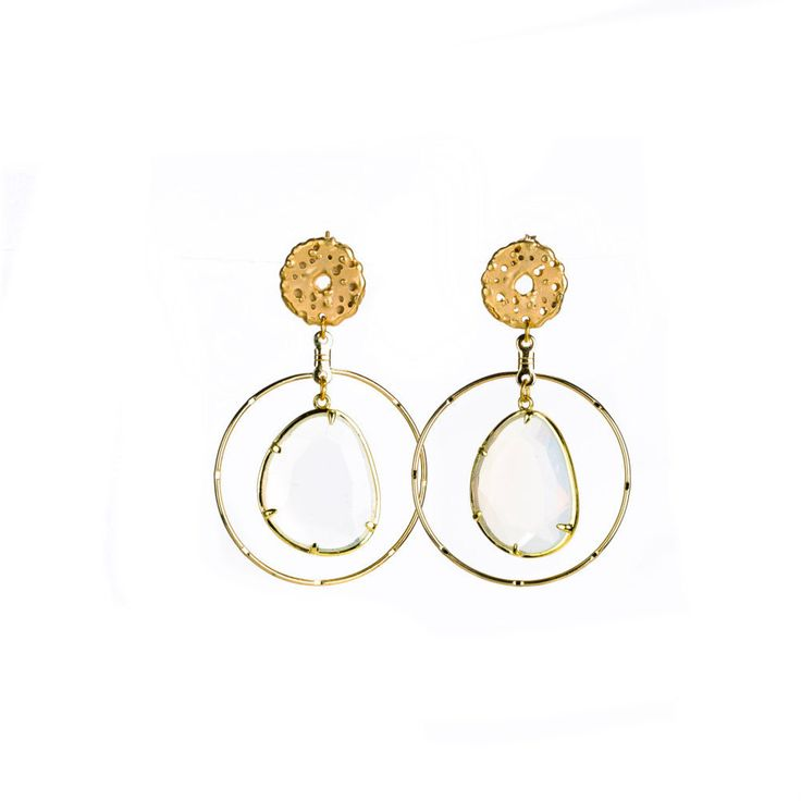 Moonstone earrings by Excessjewellery on Etsy