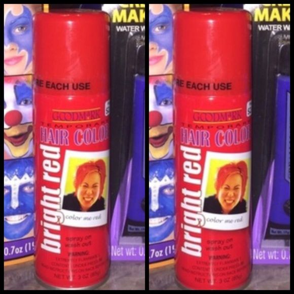 Red Hair Spray Color NWT: 2 Bright Red Temporary Hair Color Spray-Ons. Interested in just one item? Make me an offer Makeup