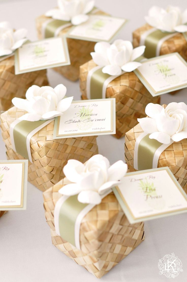 Our wedding favour boxes. Designed and made by dkdesignshawaii