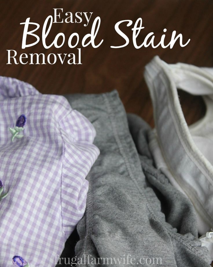 How to remove blood stains from clothing get blood