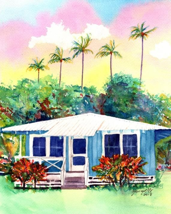 fef6a14b19b3e7c11e7768859ad5bd8d Painting Old Hawaiian Plantation House on old chinese house paintings, farm paintings, plantation homes acrylic canvas paintings, scenic country landscape paintings,