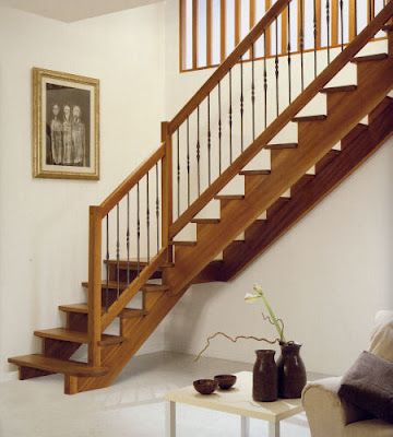 Mejores 109 im genes de escaleras en pinterest escalera - Como se hacen escaleras de madera ...